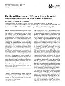 The effects of high-frequency ULF wave activity on the spectral