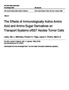 The Effects of Immunologically Active Amino Acid and Amino Sugar ...