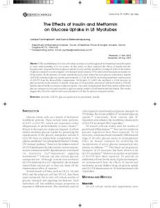 The effects of insulin and metformin on glucose uptake ... - ThaiScience