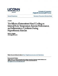 The Effects of Intermittent Hand Cooling on Internal Body Temperature ...