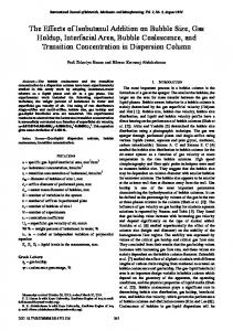 The Effects of Isobutanul Addition on Bubble Size, Gas ... - ijmmm