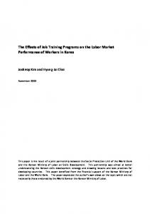 The Effects of Job Training Programs on the Labor ...