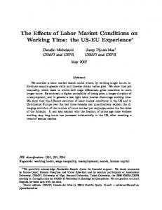 The Effects of Labor Market Conditions on Working