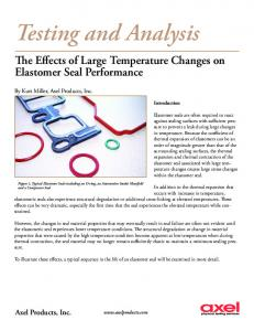 The Effects of Large Temperature Changes on Elastomer Seal ...