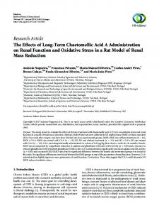 The Effects of Long-Term Chaetomellic Acid A Administration on
