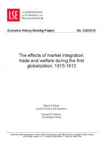 The effects of market integration: trade and ... - LSE Research Online