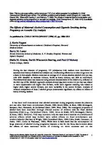 The Effects of Maternal Alcohol Consumption and ... - Semantic Scholar