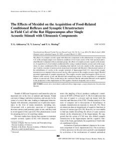 The effects of Mexidol on the acquisition of food-related conditioned ...