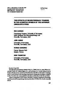 the effects of neurofeedback training in the cognitive ... - CiteSeerX
