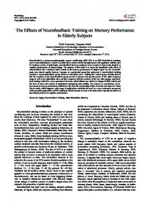The Effects of Neurofeedback Training on Memory ... - Semantic Scholar