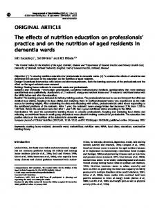 The effects of nutrition education on professionals' practice ... - Nature