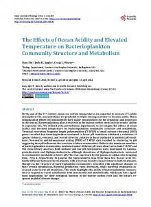The Effects of Ocean Acidity and Elevated Temperature on ...