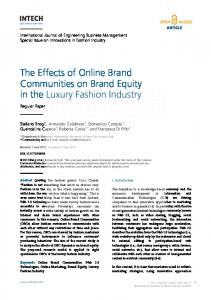The Effects of Online Brand Communities on Brand Equity - InTechOpen