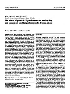 The effects of parental CO2 environment on seed ... - Springer Link