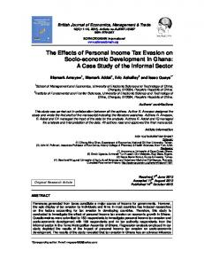 The Effects of Personal Income Tax Evasion on ... - Journal Repository