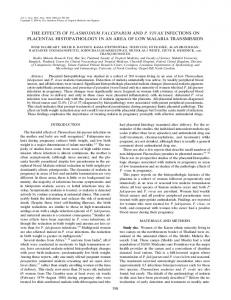 the effects of plasmodium falciparum and p. vivax ... - CiteSeerX