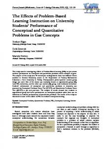 The Effects of Problem-Based Learning Instruction on University ...