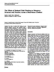 The Effects of Reduced Tidal Flushing on Mangrove ... - Springer Link