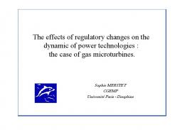 The effects of regulatory changes on the dynamic of