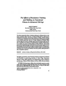 The Effects of Resistance Training and Walking on ... - SAGE Journals