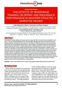 the effects of resistance training on sprint and ... - Fitness Research