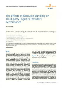 The Effects of Resource Bundling on Third-party Logistics Providers ...