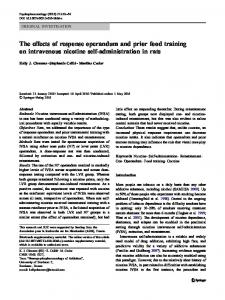 The effects of response operandum and prior food training on ...