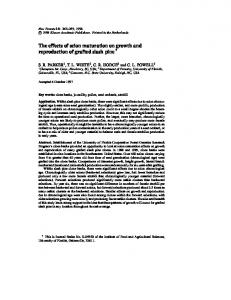 The effects of scion maturation on growth and ... - Springer Link