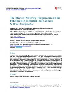 The Effects of Sintering Temperature on the Densification of ...