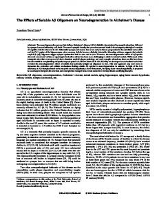 The Effects of Soluble Aβ Oligomers on ...