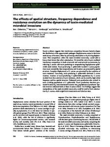 The effects of spatial structure, frequency dependence and resistance ...