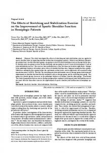 The Effects of Stretching and Stabilization Exercise on ...