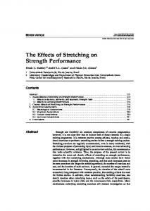 The Effects of Stretching on Strength Performance - Springer Link