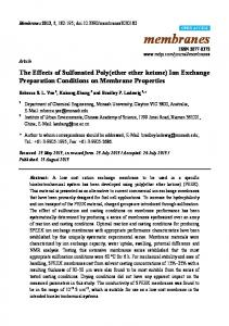 The Effects of Sulfonated Poly (ether ether ketone) Ion Exchange ...
