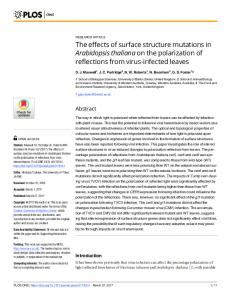 The effects of surface structure mutations in ... - Semantic Scholar
