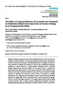 The Effects of Targeted Deliveries of Lovastatin and Tocotrienol on ...