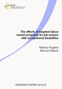 The effects of targeted labour market programs for job seekers ... - IFAU