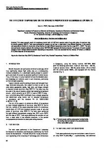 the effects of temperature on the strength properties of aluminium ...
