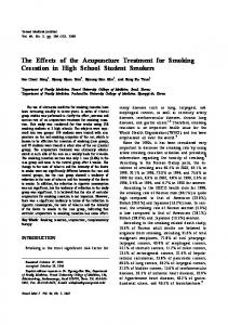 The Effects of the Acupuncture Treatment for