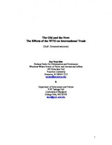 The Effects of the WTO on International Trade - Princeton University