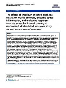 The effects of theaflavin-enriched black tea extract on muscle ...