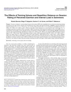 The Effects of Training Volume and Repetition Distance on Session ...