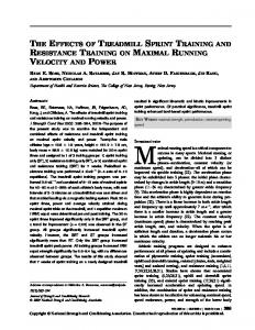 Specificity of Sprint and Agility Training Methods - NEO Sports