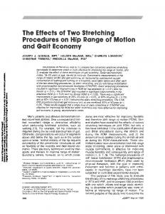 The Effects of Two Stretching Procedures on Hip