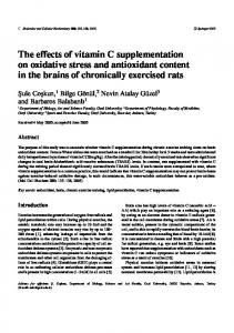 The effects of vitamin C supplementation on oxidative stress and ...