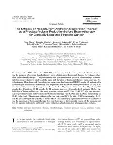The Efficacy of Neoadjuvant Androgen Deprivation Therapy as a ...