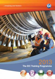 The EIC Training Programme