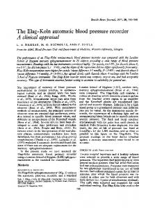 The Elag-Koln automatic blood pressure recorder - PubMed Central ...
