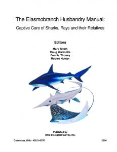 The Elasmobranch Husbandry Manual
