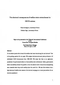 The electoral consequences of welfare state retrenchment ... - CiteSeerXhttps://www.researchgate.net/.../The-electoral-consequences-of-welfare-state-retrench...